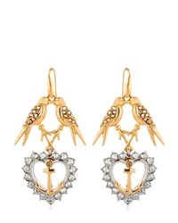Schield | Metallic Anchor Line Earrings | Lyst