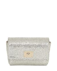 Jimmy Choo | Metallic Ruby Glitter & Net Lace Shoulder Bag | Lyst