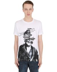 DSquared² | Black Collage Printed Cotton Jersey T-shirt for Men | Lyst