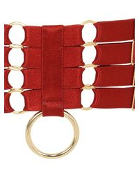 Bordelle - Red Elastic Straps Garters - Lyst