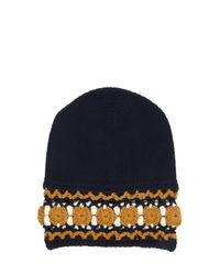 Gucci | Blue Wool Knit Beanie Hat | Lyst
