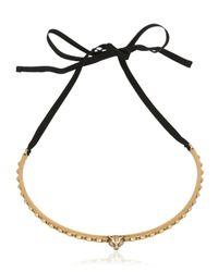 Gucci - Black Feline Chocker Necklace - Lyst