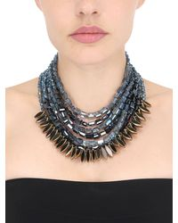 Night Market - Blue Short Multi Strand Necklace - Lyst
