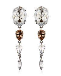 On Aura Tout Vu   Metallic Rain Crystal Earrings   Lyst