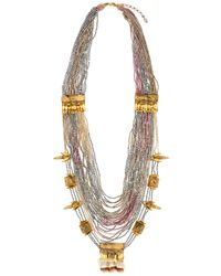 Deepa Gurnani | Metallic Skull Claw Chain Necklace | Lyst