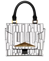 Vionnet - White Printed Leather Top Handle Bag - Lyst