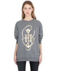 Tommy Hilfiger | Gray Gigi Hadid Anchor & Rope Sweatshirt | Lyst
