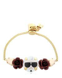 Bijoux De Famille - Metallic Karl Rosary Mini Chain Bracelet - Lyst