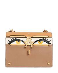 Giancarlo Petriglia | Brown Medium Peggy Eyes Leather Shoulder Bag | Lyst