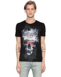 Just Cavalli | Black Skull Printed Cotton Jersey T-shirt for Men | Lyst