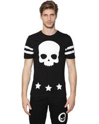 Hydrogen | Black Skull & 17 Printed Cotton Jersey T-shirt for Men | Lyst