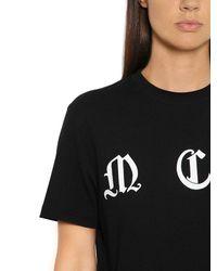 McQ | Black Mcq Printed Cotton Jersey T-shirt | Lyst