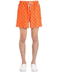 Polo Ralph Lauren | Orange Polka Dot Logo Nylon Swim Shorts for Men | Lyst