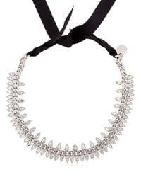 Ellen Conde | Metallic Brilliant Jewelry Spike Crystal Necklace | Lyst