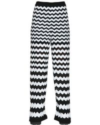 M Missoni | Black Cotton Viscose Zig Zag Knit Pants | Lyst