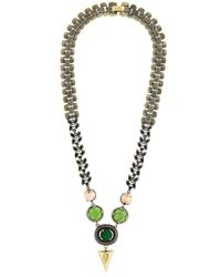 Iosselliani | Metallic Anubian Crystal & Agate Necklace | Lyst