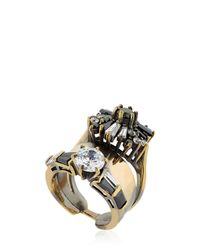 Iosselliani | Metallic Optical Memento Crystal Ring | Lyst