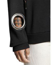 DIESEL - Black Eyelet Cotton Sweatshirt for Men - Lyst