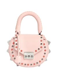 Salar | Pink Mimi Ring Studded Leather Shoulder Bag | Lyst