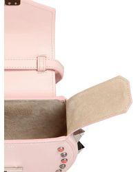 Salar   Pink Mimi Ring Studded Leather Shoulder Bag   Lyst
