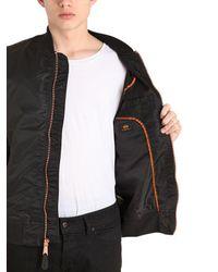 Alpha Industries - Black Ma-1 Vf Lw Slim Fit Nylon Bomber Jacket for Men - Lyst