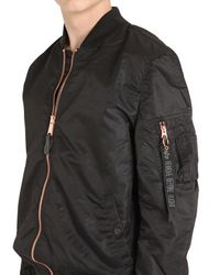 Alpha Industries - Black Ma-1 Vf Lw Slim Fit Nylon Bomber Jacket for Men - Lyst