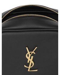 Saint Laurent - Black Monogram Blogger Leather Bag - Lyst