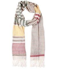 Ferragamo | Multicolor Linen & Silk Striped Scarf for Men | Lyst