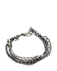 Emanuele Bicocchi | Metallic Multi Chain Sterling Silver Bracelet | Lyst