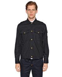 Moncler Gamme Bleu | Blue Cotton Muslin Shirt Jacket for Men | Lyst
