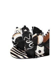 Aquazzura - Black 105mm Tropicana Suede & Snake Sandals - Lyst