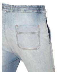 Balmain   Blue Biker Cotton Jersey Sweatpants for Men   Lyst