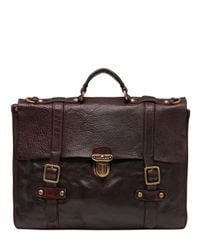 Campomaggi | Brown Vintage Effect Leather Briefcase for Men | Lyst