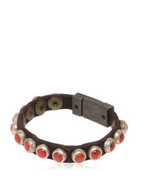 Campomaggi | Brown Coral Studded Leather Bracelet for Men | Lyst