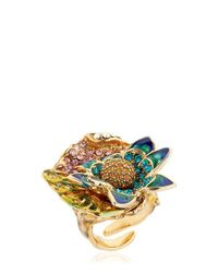 Casadei | Metallic Amazon Jungle Flower Ring | Lyst