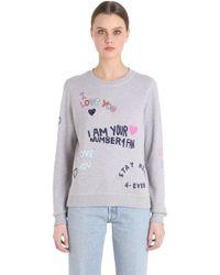 KENZO | Gray I Love You Cotton Sweatshirt | Lyst