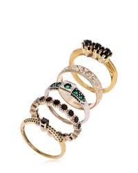 Iosselliani - Metallic Colors Of Burma Set Of 5 Rings - Lyst