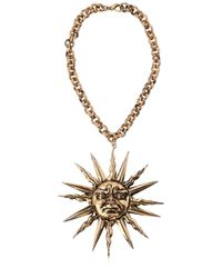Fausto Puglisi - Metallic Chain Belt With Sun Pendant - Lyst