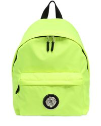 Versus  Yellow Lion Plaque Nylon Backpack for men
