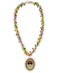 Bijoux De Famille - Metallic Anna Cameo Necklace - Lyst