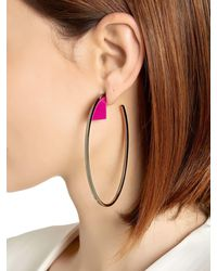 Sylvio Giardina - Multicolor Barock Hoop Earrings - Lyst