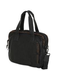 AllSaints - Natural Shoto Soft Leather & Nylon Work Bag for Men - Lyst