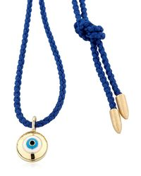 Luis Morais - Blue Gold Enameled Evil Eye Necklace - Lyst