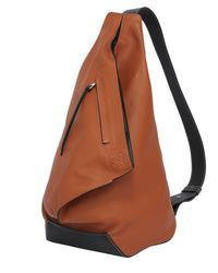 Loewe - Brown Anton Leather Backpack - Lyst