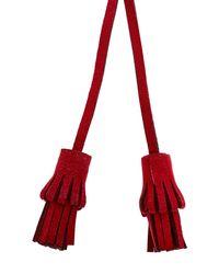 Shourouk - Red Alcantara Flower Necklace - Lyst