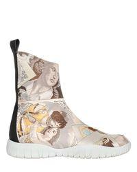 Maison Margiela - Multicolor Josephine Trek Tabi Ankle Boots - Lyst