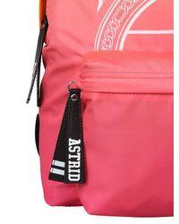Astrid Andersen - Orange Logo Print Nylon Backpack for Men - Lyst