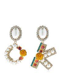 """Bijoux De Famille - Metallic Orecchini """"ok Blossom"""" - Lyst"""
