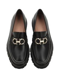 "Ferragamo - Black Mocasines ""bleeker"" De Piel Con Logo for Men - Lyst"