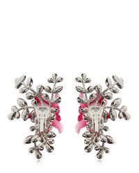 DSquared² - Pink Secret Garden Clip-on Earrings - Lyst